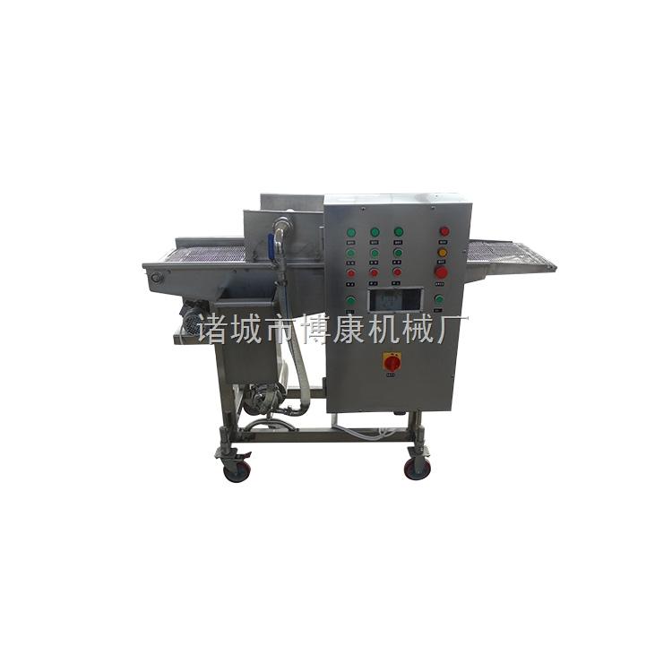 诸城裹浆机生产厂家|单面食品裹浆机|定制加工裹浆裹粉设备