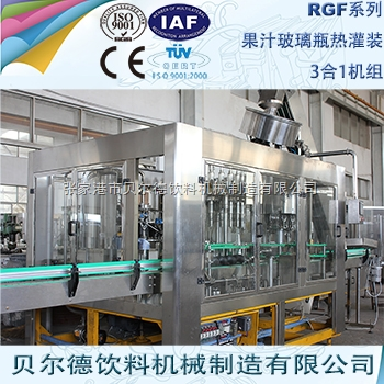 果汁饮料灌装生产线玻璃瓶瓶装饮料热灌装机组