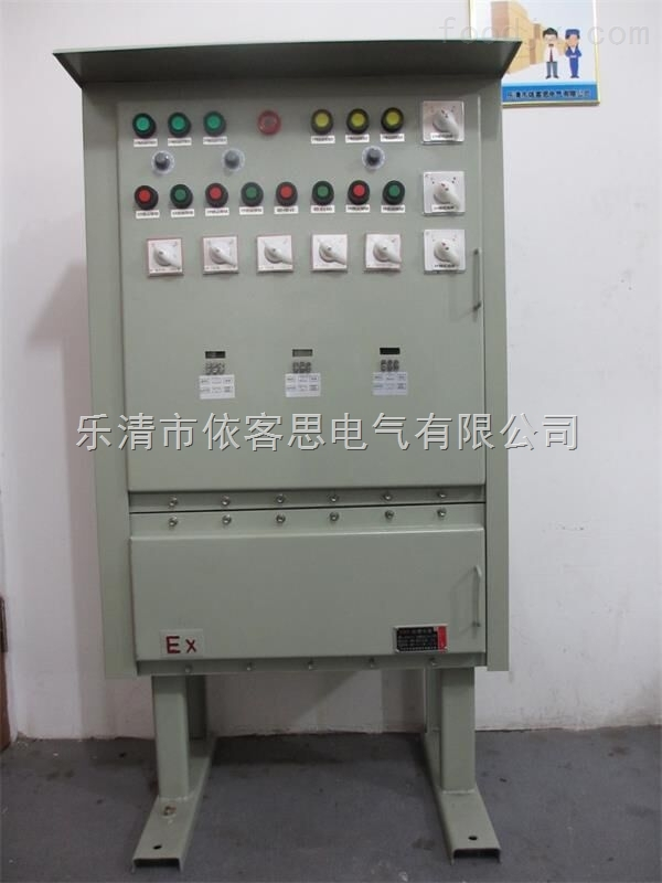 BXK-T立式钢板防爆控制箱配防雨罩/订做钢板防爆控制箱