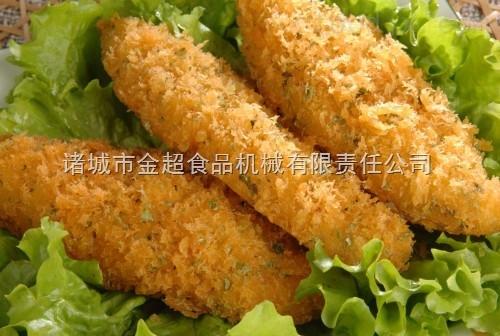 黄花鱼裹浆裹粉油炸机(生产厂家)