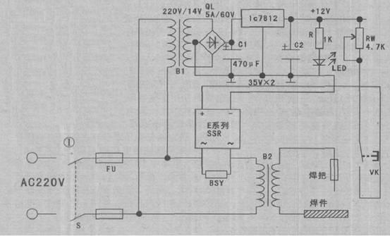 固态继电器制作电焊机空载节电装置