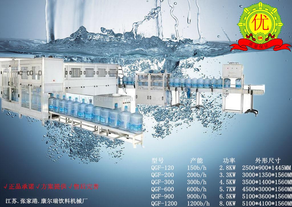 小型桶装水灌装生产线设备