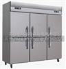 世瑞不锈钢厨房六门冷柜 双机双温六门冰柜